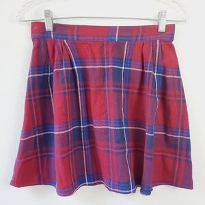Old Navy Red Plaid Mini Skirt Size XS